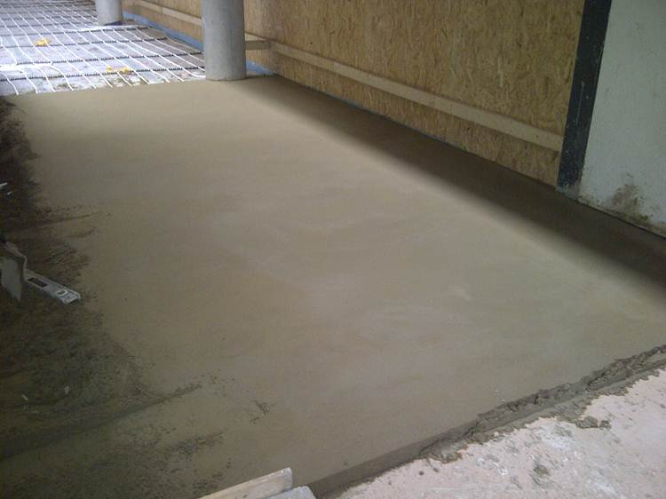 Sanded Concrete Flooring : Sand and cement screed floor sml midland